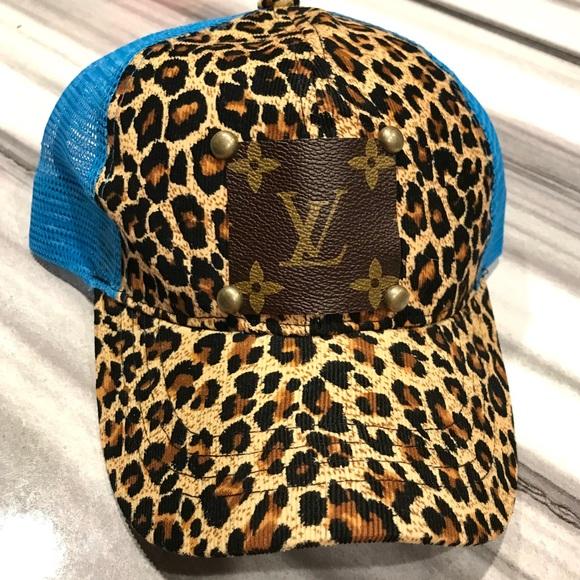 a13a91662 LAST ONE ✨NEW✨Blue Leopard Print Patch Hat! Boutique